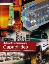 Automotive Engineering Capabilities - Southwest Research Institute
