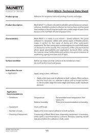 Black Witch™ Technical Data Sheet - McNett Europe