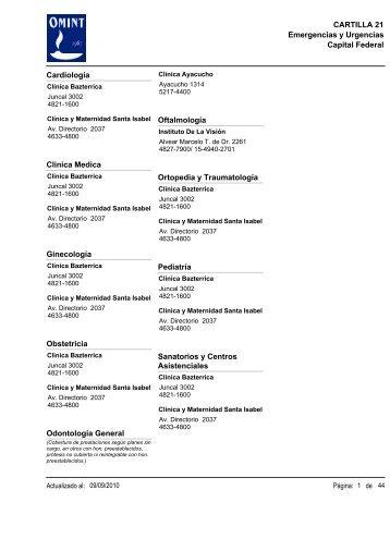 Capital Federal CARTILLA 21 Emergencias y Urgencias ... - Ameport