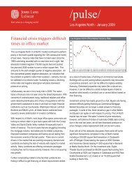 Financial crisis triggers difficult times in office market