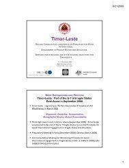 Timor-Leste Timor Leste - Timor-Leste Ministry of Finance