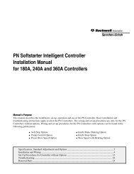 PN Softstarter Intelligent Controller Installation ... - Sprecher + Schuh