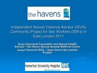 Independent Sexual Violence Advisor (ISVA) Community Project for ...