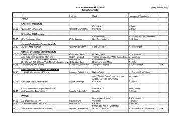 Teilnehmerliste 12.1.-1