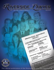 May 2008 - Riverside Lawyer Magazine - Riverside County Bar ...