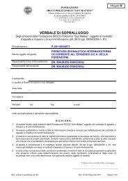 VERBALE DI SOPRALLUOGO - fareonline.it