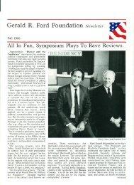 Gerald R. Ford Foundation Newsletter