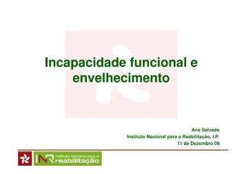 Incapacidade funcional e envelhecimento - AAGI-ID Associação ...
