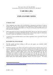 CARE BILL [HL] EXPLANATORY NOTES - Social Welfare Portal