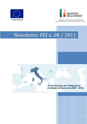 Newsletter 8/11 - Dipartimento per le Libertà Civili e l'Immigrazione