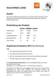 Evaluation 2013 Kurzfassung - Rauchfreie Lehre
