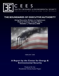 the boundaries of executive authority - Presidential Climate Action ...
