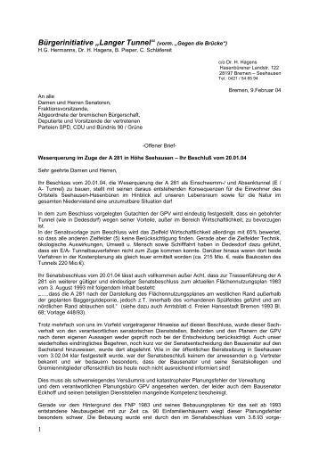 forum tein offener brief