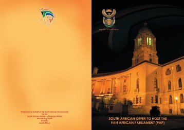 south african offer to host the pan african parliament (pap)