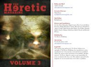 Editor-in-Chief Andrew Gough editor@thehereticmagazine.com ...