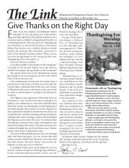 Give Thanks on the Right Day - Westminster Presbyterian Church