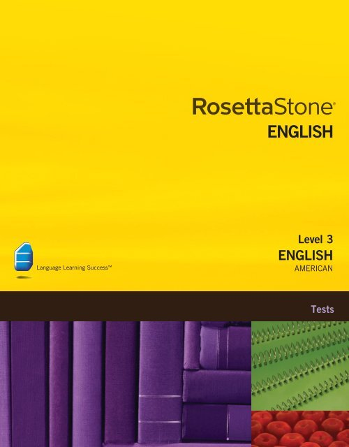 English (American) Level 3 - Tests
