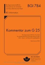 BGI 784 Kommentar zum G 25