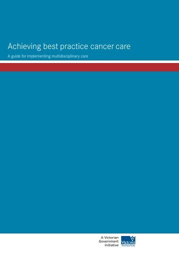 Achieving best practice cancer care A guide for - Grampians ...