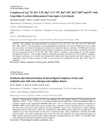 Abstracts of Journal of Indian Chemical Society Vol.85, May 2008 ...