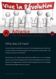 Vive la Révolution: e-Learning 2.0 What does ... - Saffron Interactive
