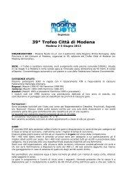 39° Trofeo Città di Modena - CSI Nuoto Ober Ferrari ASD