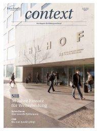 Context Nr. 3 / März 2013 - 50 Jahre SIB (PDF, 3761 kb) - KV Schweiz