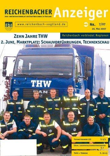 Zehn Jahre THW 2. Juni, Marktplatz - Reichenbach
