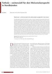 Totholz – existenziell für den weissrückenspecht in ... - Waldwissen.net