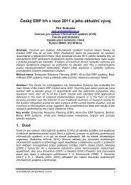 Český ERP trh v roce 2011 a jeho aktuální vývoj
