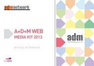 Download the A+D+M web 2013 media kit - A+D+M Network