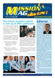 Interview - European Union Police Mission in Bosnia and Herzegovina