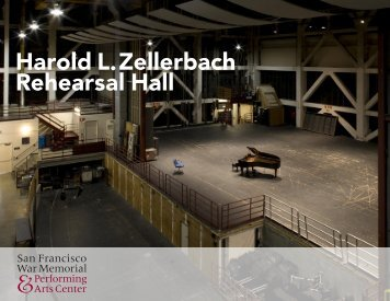 Harold L. Zellerbach Rehearsal Hall - San Francisco War Memorial ...