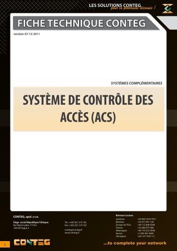 SYSTÈME DE CONTRÔLE DES ACCÈS (ACS) - Conteg