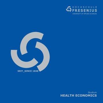 HEALTH ECONOMICS - Hochschule Fresenius