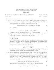 Homework 1 Solutions - Caltech