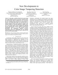 New Developments in Color Image Tampering Detection - A*Star
