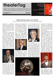 Ausgabe 1 - Theatertage Europäischer Kulturen