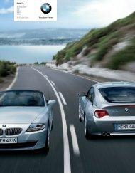 Download Alle Modelle und technischen Daten des BMW Z4