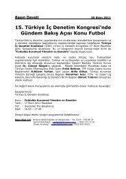 15. Türkiye İç Denetim Kongresi'nde Gündem Bakış Açısı ... - TİDE