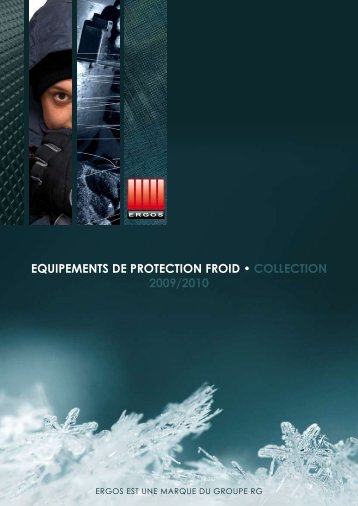 equipements de protection froid • collection 2009/2010 - Groupe RG