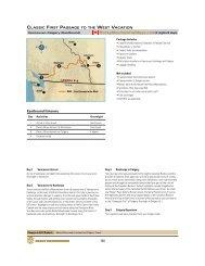 Classic Rail Vacation - Van/Cgy - Rocky Mountain Holidays