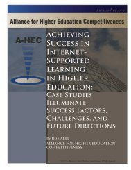 Achieving Success in Internet- Supported Learning in Higher ...