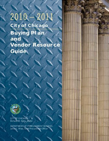 Buying Plan and Vendor Resource Guide - City of Chicago