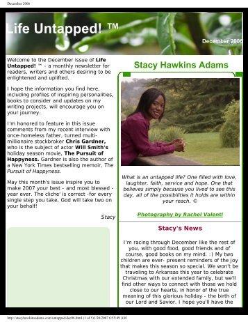 December 2006 - Stacy Hawkins Adams