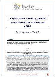 A quoi sert l'intelligence économique en période de crise ? Quel rôle ...