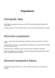 Popolazioni Demografia. Italia Movimenti e popolazioni Movimenti ...