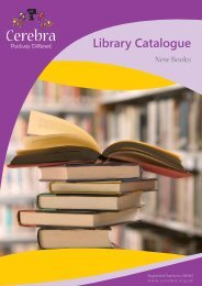 Library Catalogue - Cerebra