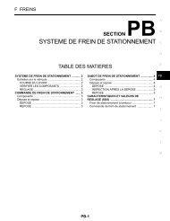 SYSTEME DE FREIN DE STATIONNEMENT - Notre 350Z