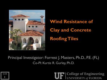 1 Wind Resistance of Clay and Concrete Roofing Tiles